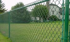Chain Link fencing green chain wire fence mesh roll  net cyclone 2100mm*10m long