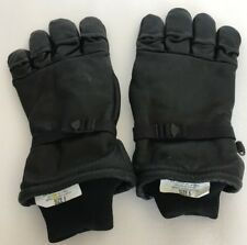 Genco Military Black Leather Gloves Size 5 Men Or Women Intermediate Cold / Wet