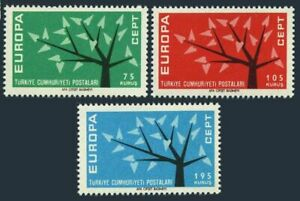 Turkey 1553-1555,MNH.Michel 1843-1845. EUROPE CEPT-1962.Young Tree,19 leaves.