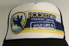 ROCKSTAR ENERGY DRINK  Ball Cap White With 4 Color Logo Trucker Mesh Snap RARE
