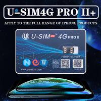 U-SIM 4G PRO II Unlock Turbo ICCID Nano SIM Card for iPhone Xs X 8 7 6 iOS 12.2-