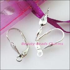 10Pcs Leaves Lever Back Splitring Earring Hook 11x19mm Gold Silver Bronze Plated