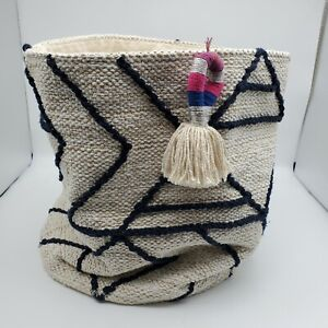 NWT West Elm Roar & Rabbit Woven Bucket  Chipper Basket Large