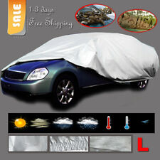Outdoor Indoor Full Car Cover Breathable UV Scratchproof All Weather Protector L