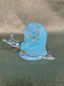 Hand Blown Glass Snail 🐌 Figurine Ornament Paperweight Festive Xmas Gift