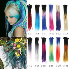 """24"""" Ombre Dreadlocks Hair Extensions Synthetic Crochet Braided Single End Dreads"""