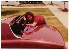 Vintage 70s PHOTO Young Man Guy Working on 914 Porsche