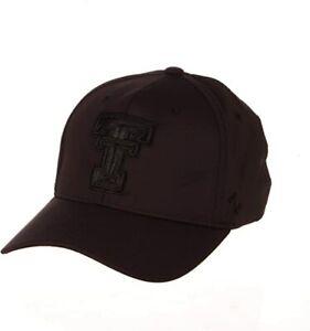 Zephyr Men's S/M Texas Tech  Obsidian Hypercool Black Tonal Hat