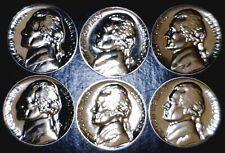 1959 60 61 62 63 & 64 GEM PROOF Jefferson Nickel SUPERB 6 Coin PRF LOT  NR