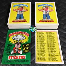GARBAGE PAIL KIDS 3rd SERIES 3 COMPLETE 88-CARD SET 1986 +FREE WAX WRAPPER OS3