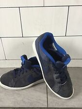 MENS NIKE SUEDE BLAZERS BLUE URBAN LOW TOP TRAINERS SIZE UK 7
