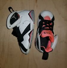 JORDAN 7 RETRO TODDLER SNEAKER SHOES SIZE 7C WHITE BLACK HOT LAVA 705418-106