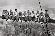 Poster Manhattan Steelworkers Bauarbeiter New York NY schwarz weiß 91,5 x 61 cm