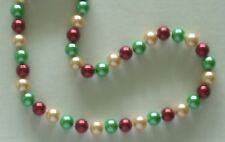 """10MM Multicolor #72 AAA South Sea Shell Pearl Necklace 18"""" NEW (with gift bag)"""