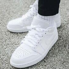 Nike Air Jordan AJ 1 Low Triple White Men's Casual Shoes Multi Size Sneakers