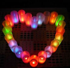 Multicolor LED Candle Flameless Light Lamp Romantic Night Valentine's Day HOT5