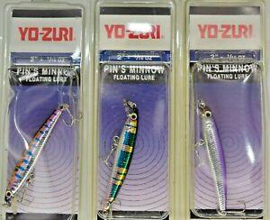 "Three 2"" Yo-Zuri# YB-F196 PIN'S MINNOW 1/16oz Floating Ultra Light Fishing Lure"