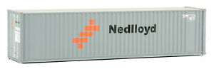 Walthers HO Scale 40' Hi-Cube Corrugated Shipping Container Flat Roof Nedlloyd