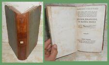 MEDICINA DEL 700 – HYGIENE E TERAPEUTICA – SUGLI ALIMENTI ec. del Carminati 1795