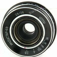Industar-69 28mm f2.8 URSS lente gran angular panqueque M39 28 / 2.8 MMZ...