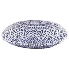Indian Ombre Mandala Floor Cushion Cover Large Round Ottoman Poufs With Insert