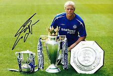 Eidur Gudjohnsen Signed 12X8 Photo Chelsea & Iceland Genuine AFTAL COA (9049)