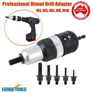 Professional HD Nutsert Rivnut Rivet Nut Drill Adaptor Tool SS M4 M10