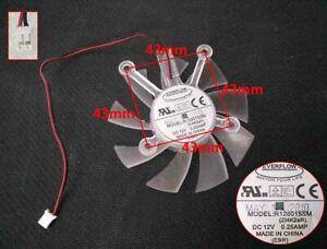 EVERFLOW R128015SM 12V 0.25A mute graphics card GPU fan 2-Pin