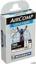 700 Michelin Air Comp Ultralight Latex Bicycle Tube 18/23c 60mm Presta Valve