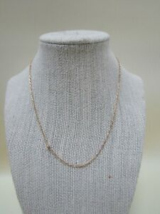 """16"""" 2mm 14k Yellow Gold Chain Link Necklace Made in Italy"""