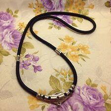 """Strong Buddha Amulet Handmade Pendant Black Necklace Robe Unisex 3 hooks 24"""""""