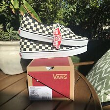 Vans Size 10.5 White Black Checkered