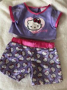 build a bear clothes pyjamas Hello Kitty