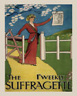 Vote Woman Suffragette Cover Vintage Poster Repro FREE S/H in USA