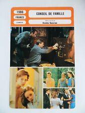 CARTE FICHE CINEMA 1986 CONSEIL DE FAMILLE Johnny Hallyday Fanny Ardant Guy Marc