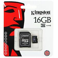 Kingston Scheda di Memoria Micro SD 16gb Classe10 SDHC MicroSD Smartphone