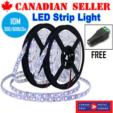 10M Flexible LED Light Strip 300/600 6000K Unit LEDs Waterproof DC12V Light Tape