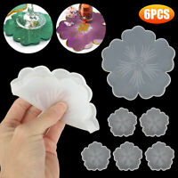 Silicone Cup Coaster Pad Casting Molds Resin Making Epoxy Mould Craft Tool DIY