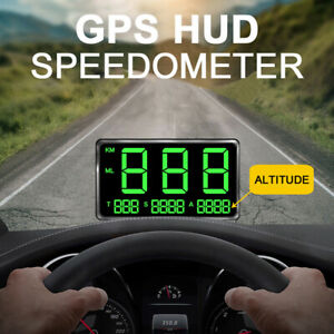 Universal C80 HUD Head UP GPS Speedometer Digital Display Car Speed Warning