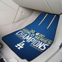 Los Angeles Dodgers 2020 World Series Champions Carpet Car Mat Set