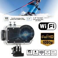 Black 1080P WIFI Action Sport Video Camera DVR HDMI Waterproof Cam Camcorder DV