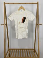 VTG 80s Audi Sport Thermal Short Sleeve T-Shirt Size YOUTH L (7-8)