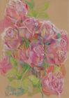 original drawing A4 274YL art samovar modern pastel flowers roses Signed 2021