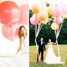 "36"" Inch Giant Big Latex Balloon Birthday Wedding Party Decor Helium 10 Colors"