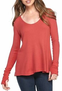 WE THE FREE Malibu Thermal Top in Rust Red, US Size Large, NWOT [RRP $115]