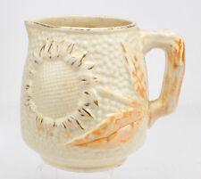 Antique Albino Majolica Sunflower Mug