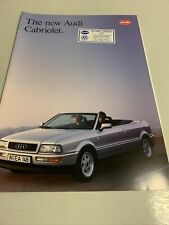 The New Audi Cabriolet - Car sales brochure