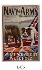 Tin Sign Uk Flag Navy Army Military Dogs Quotes Retro Metal Signs Plaques Decor