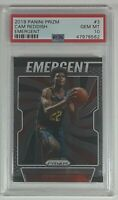 Cam Reddish 2019-20 Panini Prizm Emergent Rookie Card RC PSA 10 Low POP of 12