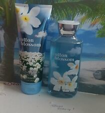 bath and body works cotton blossom shower gel and body cream